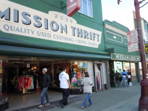 Has time forgotten this thrift shop and pawn shop on San Francisco's Mission Street?