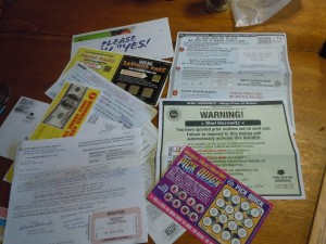 Scary warnings and official-looking documents from Publishers Clearing House