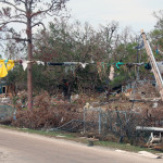 Photo of debris after Hurricane Katrina