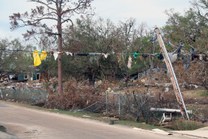 Photo of debris after Hurricane Katrina