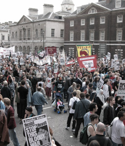 Nonviolent peace demonstration in Britain