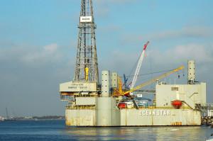 Offshore oil platform. Photo by Freddie Hinajosa