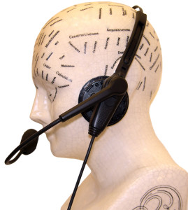 """The brain of a call center clerk (""""Call Center Dave,"""" by Ray Smithers)-graphic"""