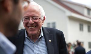 Senator Bernie Sanders, looking relaxed
