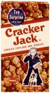 The Cracker Jack box as it appeared during my 1960s childhood (courtesy of Wikipedia)