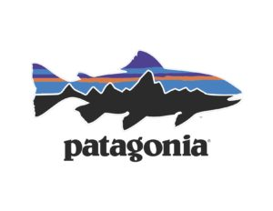 Patagonia's fish/mountain range-shaped logo