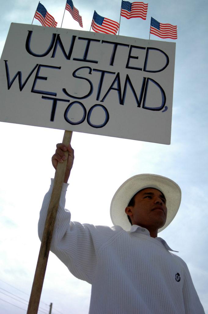 Protestor calls for unity