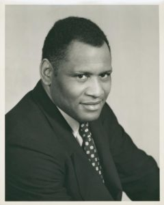 Singer, actor, activist and athlete Paul Robeson. Courtesy NY Public Library Digital Collections.