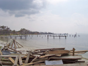 A storm-damaged pier. Courtesy freeimages.com