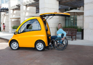 Kangaroo electric wheelchair car—One way to rethink transportation for wheelchair users